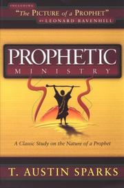 Cover of: Prophetic Ministry
