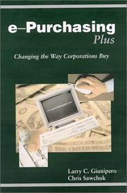 Cover of: ePurchasingPlus (1st Edition) | Larry C. Giuniipero