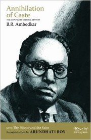 Cover of: Annihilation of caste