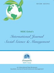 Cover of: MERC Global's International Journal of Social Science & Management |
