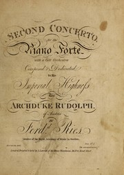 Cover of: Second concerto, for the piano forte, with a full orchestra