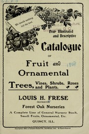 Cover of: New illustrated and descriptive catalogue of fruit and ornamental trees, vines, shrubs, roses and plants | Forest Oak Nurseries (Quincy, Ill.)