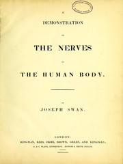 Cover of: A demonstration of the nerves of the human body