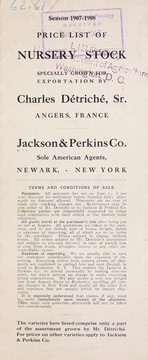 Cover of: Price list of nursery stock | Jackson & Perkins Co