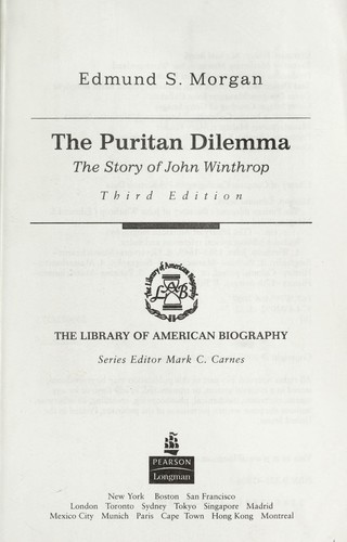 the puritan dilemma chapters by chapter review The times and trials of anne hutchinson: puritans divided by michael p winship (lawrence, university press of kansas, 2005) 184 pp $3500 cloth $1495 paper.