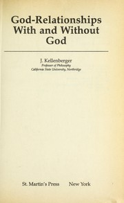 Cover of: God-relationships with and without God