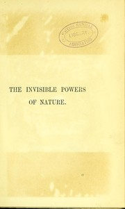 Cover of: The invisible powers of nature