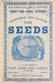 Cover of: Twenty-third annual catalogue of vegetable and flower seeds | Tillinghast Seed Co