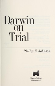 Cover of: Darwin on trial | Johnson, Phillip E.
