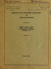 Selected list of government publications on food and nutrition