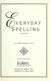 Cover of: Everyday spelling
