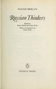 Cover of: Russian thinkers | Isaiah Berlin