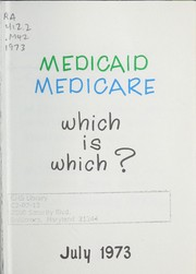 Cover of: Medicaid, medicare |