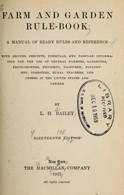 Cover of: Farm and garden rule-book