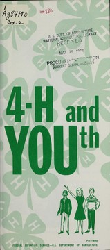 Cover of: 4-H and youth | United States. Federal Extension Service