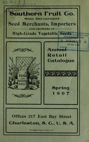 Cover of: Annual retail catalogue | Southern Fruit Company