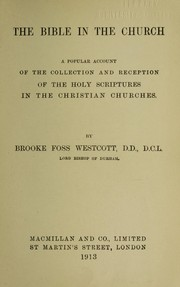 Cover of: The Bible in the church
