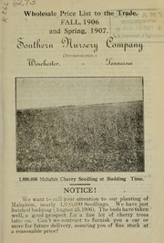 Cover of: Wholesale price list to the trade | Southern Nursery Company