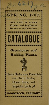 Cover of: Catalogue | George H. Mass (Firm)