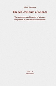 Cover of: The self-criticism of science |