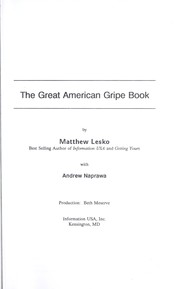 Cover of: The great American gripe book