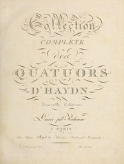 Cover of: Collection compl℗♭Ứte des quatuors d'Haydn