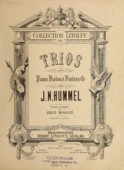 Cover of: Trios pour piano, violon & violoncelle