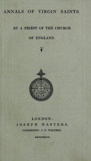 Cover of: Annals of virgin saints