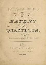 Cover of: A complete collection of Haydn's quartetts