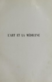 Cover of: L'art et la médecine