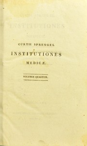 Cover of: Institutiones medicae