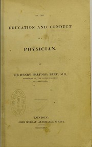 Cover of: On the education and conduct of a physician