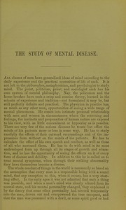 Cover of: The study of mental disease : being the introductory lecture delivered in the University of Edinburgh on the institution of the Lectureship on Mental Diseases, May 1879 | Clouston, T. S. Sir