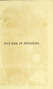 Cover of: Text-book of physiology