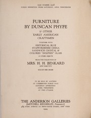 Furniture by Duncan Phyfe & other Early American craftsmen
