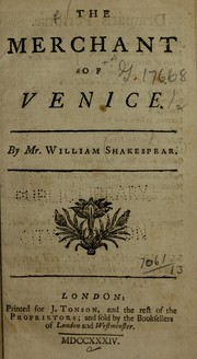 Cover of: The merchant of Venice | William Shakespeare
