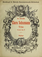 Cover of: Trio, G moll, Op. 17