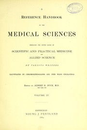 Cover of: A reference handbook of the medical sciences