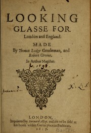 Cover of: A looking glasse for London and England | Thomas Lodge