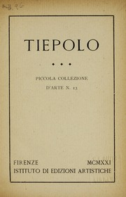 Cover of: Tiepolo