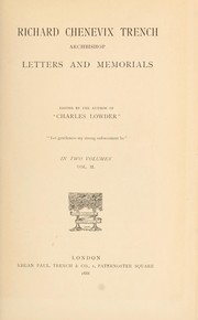 Cover of: Letters and memorials