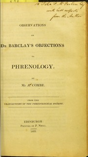Cover of: Observations on Dr Barclay