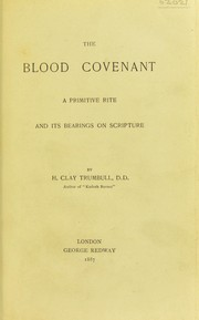 Cover of: The blood covenant