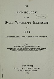 Cover of: The psychology of the Salem witchcraft excitement of 1692: and its practical application to our own time.