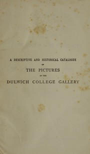 Cover of: Catalogue of the pictures in the gallery of Alleyn