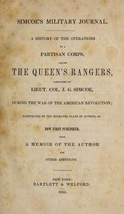 Simcoe's military journal by John Graves Simcoe