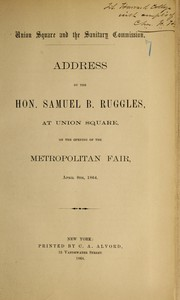 Cover of: Union Square and the Sanitary Commission