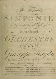 Cover of: The favorite sinfonie