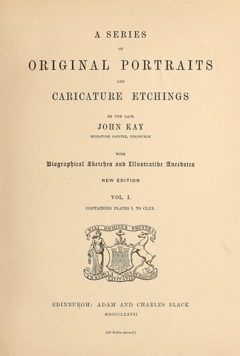 A series of original portraits and caricature etchings