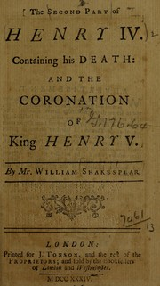 King Henry IV. Part 2 by William Shakespeare